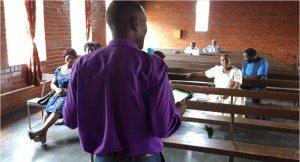 Pastor Philip preaching